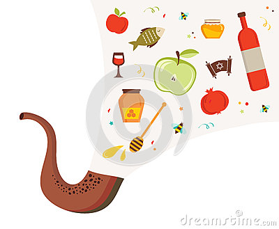 Shofar Horn Yom Kippur Stock Illustrations – 85 Shofar Horn Yom ...