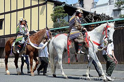 Shogun ride a horse Editorial Stock Image