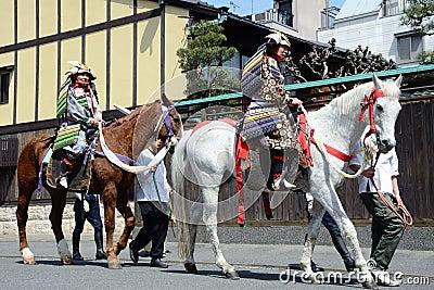 Shogun ride a horse Editorial Stock Image
