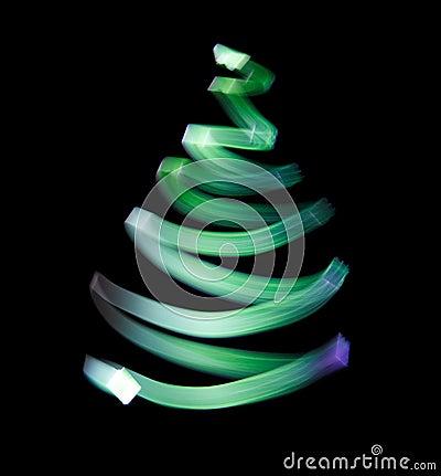 Shone green wavy trace.