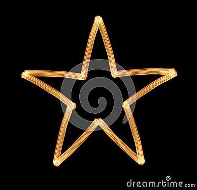 Shone a star.