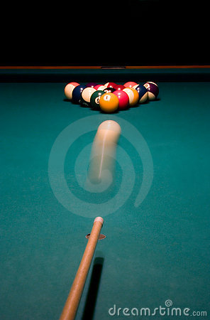 Free Shoot. Break Racked Pool Balls Royalty Free Stock Photography - 3300377