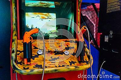 Shooting arcade game Editorial Stock Photo