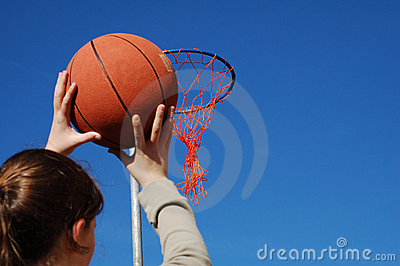 Shooting A Basket