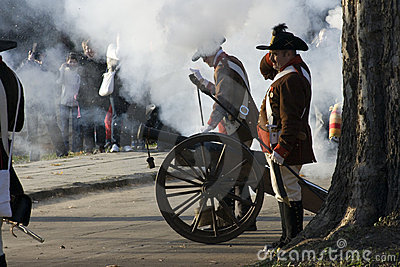 Shooting from the historic cannon Editorial Stock Photo