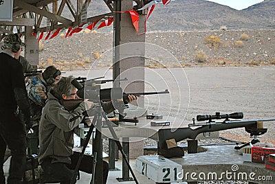 Shooting At SHOT Show Las Vegas Editorial Photo