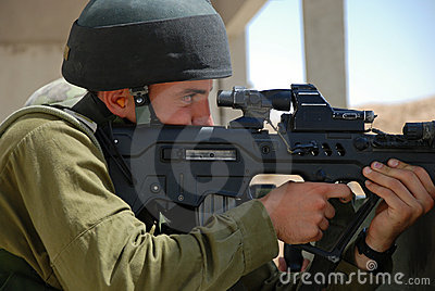 Shooting soldier Editorial Stock Image
