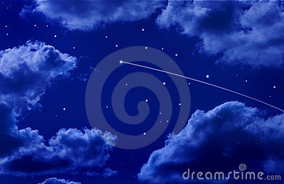 Shooting Star Night Sky