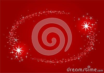 Shooting stars Christmas frame