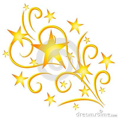 Free Shooting Stars Fireworks Gold Stock Photo - 2926010