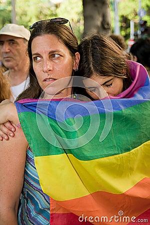 Shooting in Tel Aviv gay bar Editorial Image