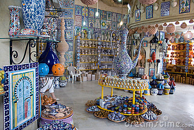 Shop for African pottery inside