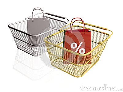 Shop bags and baskets