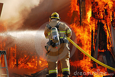Shop Fire Editorial Stock Image