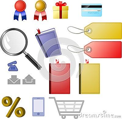 Shop icon set