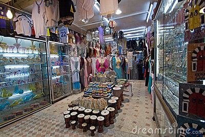 Shop in the Medina of Tunis Editorial Stock Image