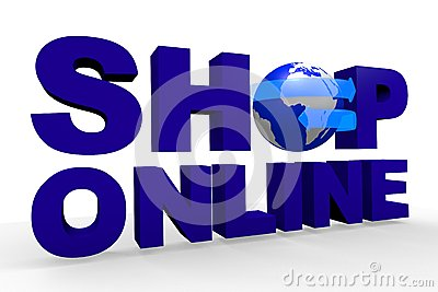 Shop online, global, network, Internet, www...