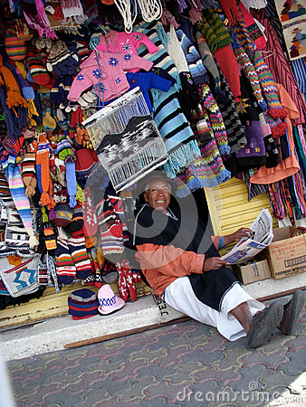 Shop Owner In Ecuador Editorial Photography