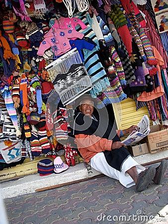 Shop Owner In Ecuador Editorial Photography