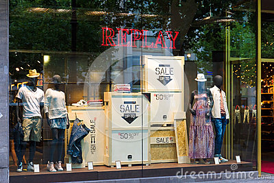 Shop for Replay Kurfuerstendamm Editorial Stock Image