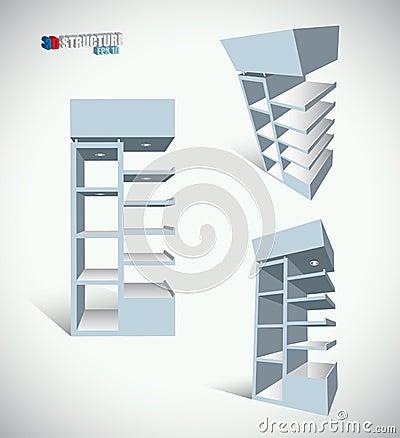 Shop shelves structure