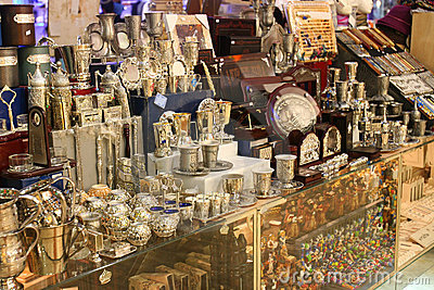 Shop of souvenirs in Jerusalem.