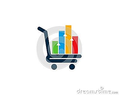 Shop Statistic Icon Logo Design Element Vector Illustration