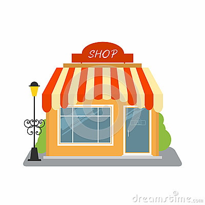 Free Shop, Street Store Building Facade Stock Images - 92462474