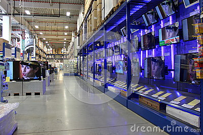 Shop TVs Editorial Photo