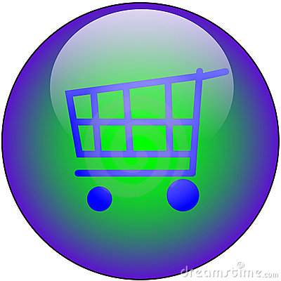 Free Shop Web Button Royalty Free Stock Photos - 2926748