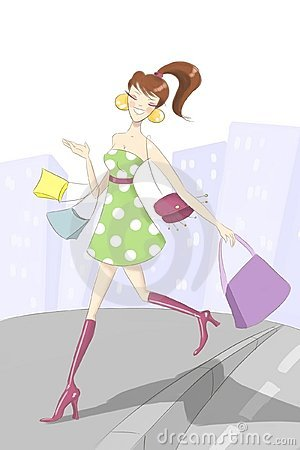 Shopaholic girl