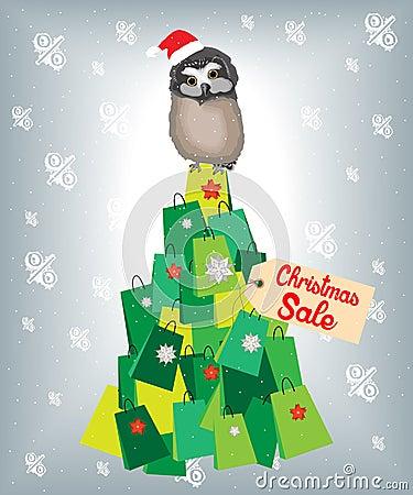 Free Shopaholic Owl Royalty Free Stock Images - 48113489