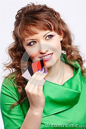 Shopaholic woman