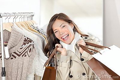 Shopper woman happy