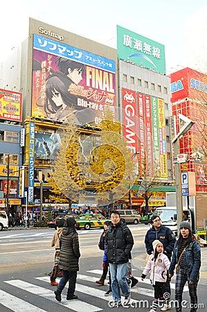 Shopping in Akihabara Editorial Stock Photo