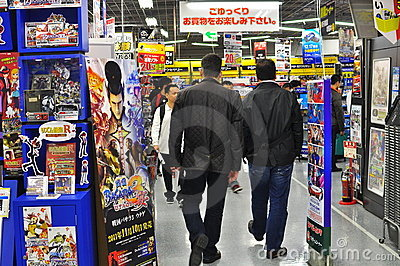 Shopping in Akihabara Electrical Town Tokyo Japan Editorial Photography