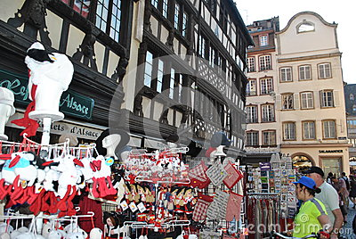 Shopping in alsace Editorial Photo