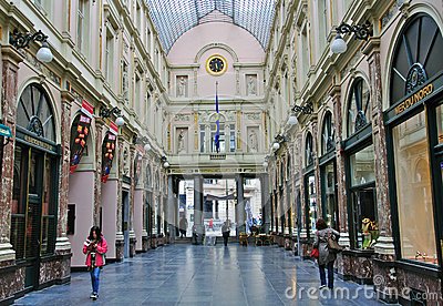 Shopping arcade in Brussels Editorial Photo