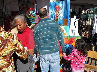 Shopping for Artwork at the Festival Editorial Image
