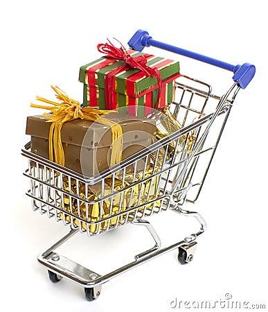 Free Shopping At Christmas Stock Photos - 12062573