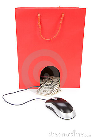 Shopping Bag and computer mouse