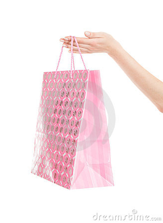 Free Shopping Bag In Hand Royalty Free Stock Image - 2532716