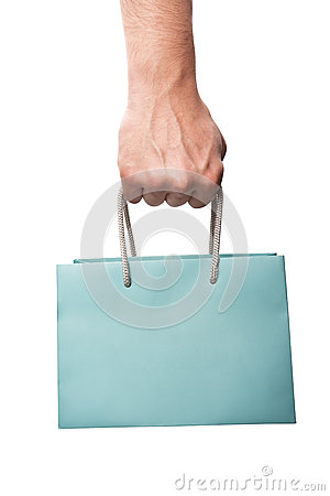 Free Shopping Bag In Hand Royalty Free Stock Photography - 37857197