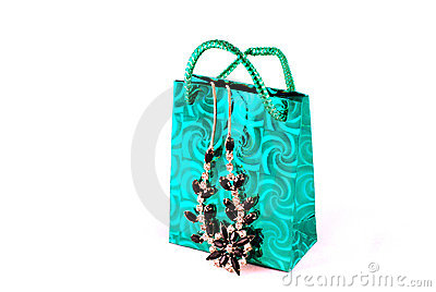 Shopping bag and jewelry