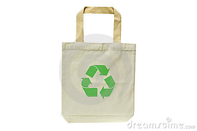 Shopping bag made out of recycled materials