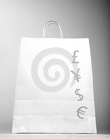 Shopping bag with money sign