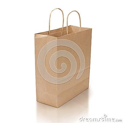 Free Shopping Bag On White Royalty Free Stock Photo - 11411085