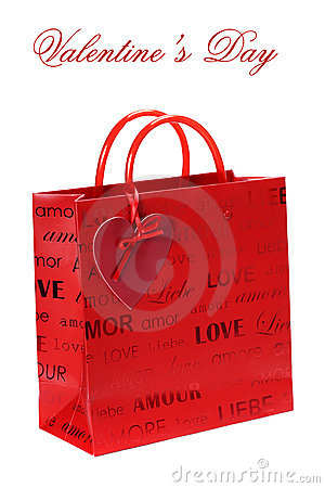 Shopping bag for Valentine s Day