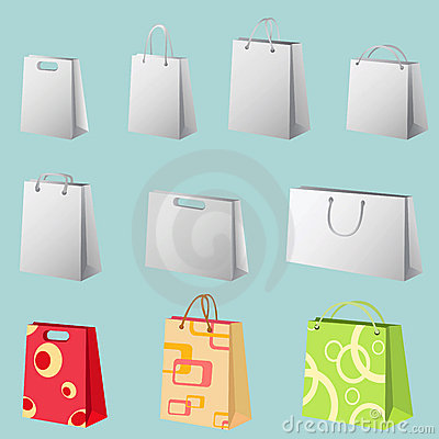 Free Shopping Bag Vector Royalty Free Stock Images - 4972789