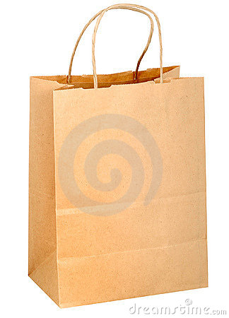 Free Shopping Bag With Handle Stock Photography - 12138132